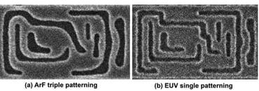 ArF versus EUV patterning